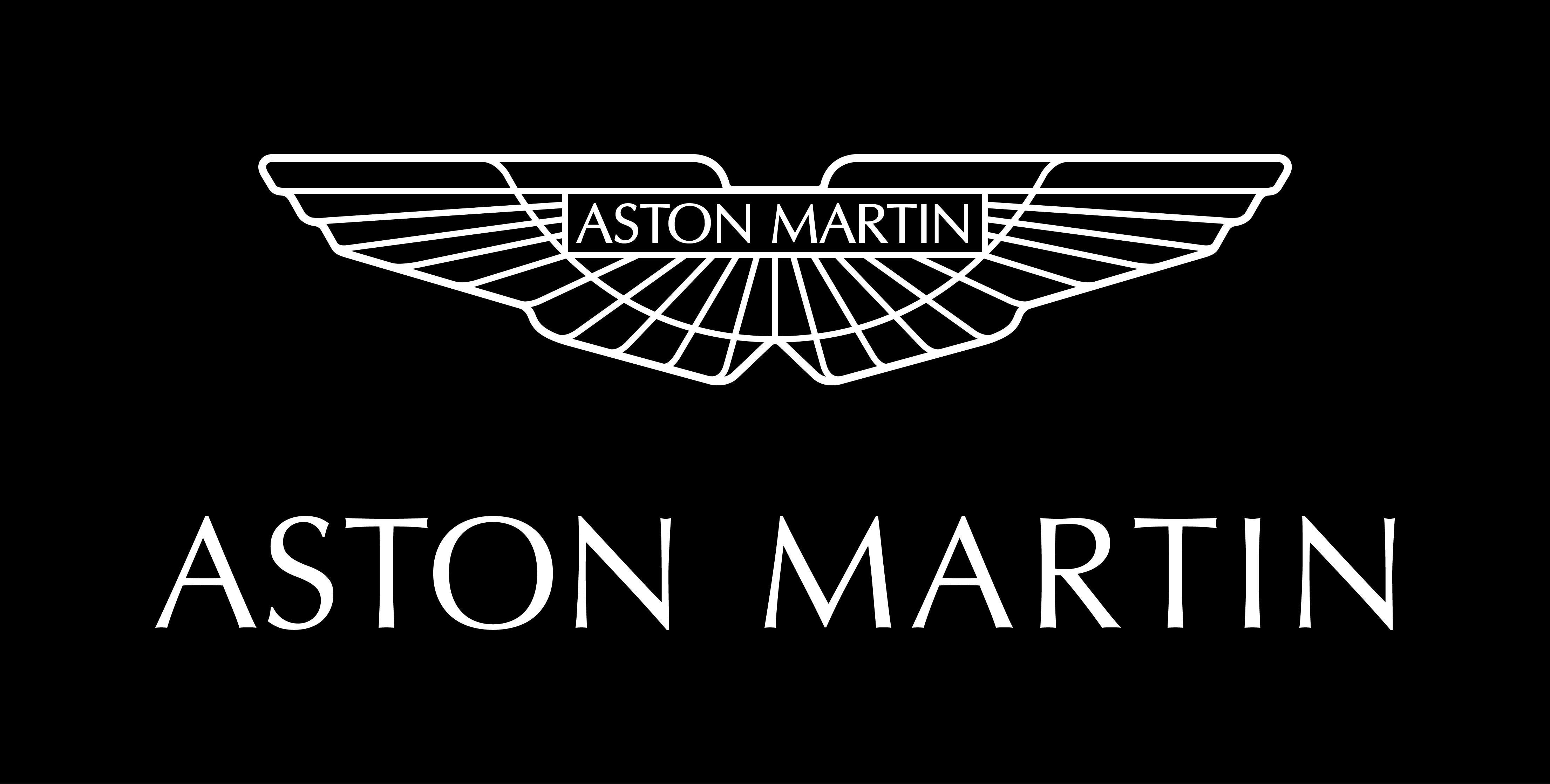 2015 Aston Martin Logo White on Black RGB